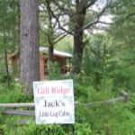 Entrance to Jack's Little Log Cabin.